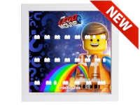 LEGO 7124959 - Minifigures Display Frame THE LEGO MOVIE 2 Emmet - Bianco