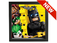 LEGO 7125004 - Minifigures Display - 71017 BATMAN MOVIE Serie 1 - Wall - Nero