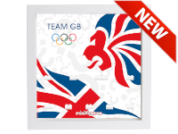 LEGO 7125027 - Minifigures Display - 8909 Team GB - London Olympics 2012 - Bianco