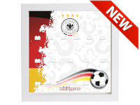 LEGO 7125045 - Minifigures Display - 71014 DFB Die Mannschaft - German Flag - Bianco